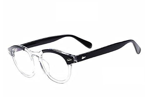 (Weiß) Brillen Modell Johnny Depp nicht Moscot Retro Style Abgestufte