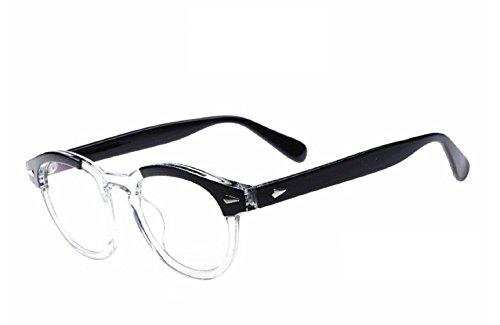 (Weiß) Brillen Modell Johnny Depp nicht Moscot Retro Style (Depp Kostüme Johnny)