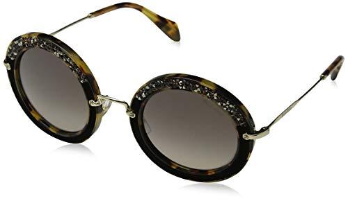 Miu Miu Unisex MU08RS Sonnenbrille, Braun (Havana 7S04P0), One size (Herstellergröße: 49)