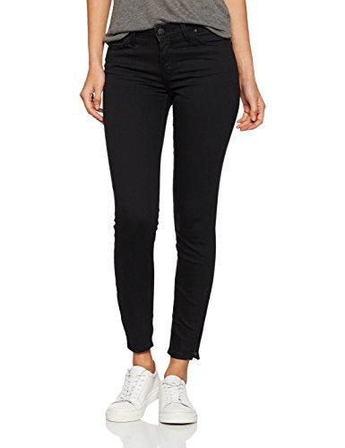 Lee Damen Skinny Jeans Scarlett Cropped, Schwarz (Black Rinse 47), W27/L31 (Herstellergröße: 27)