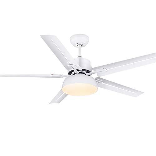 Single-Light 52-Zoll-Deckenventilator für Innen- / Außenbereich mit fünf Klingen, flächenbündiger Deckenlüfter mit Beleuchtungsset und Fernbedienung (5-Blade) -