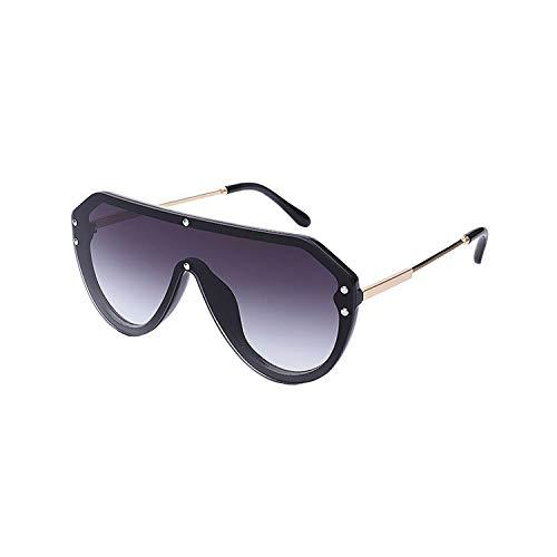 NauyGnol Übergroße verspiegelte Sonnenbrille für Damen, randlose quadratische Sonnenbrille für Damen und Herren Mode Trend Brille Gr. Einheitsgröße, C5