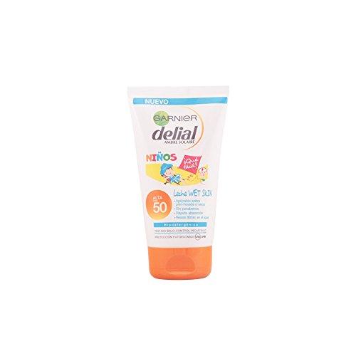 Garnier Delial Ninos Wet Skin Latte per il Corpo, SPF 50 - 150 ml