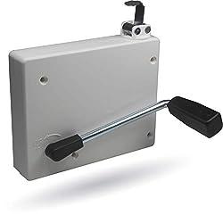 ohne Gurt Lochabstand: 134 mm Einlass-Gurtwickler Paro S f/ür Gurtbreite: 23 mm von EVEROXX Farbe: wei/ß Abmessungen: 173 x 120 x 54 mm Gurtaufnahme: 3,5 m
