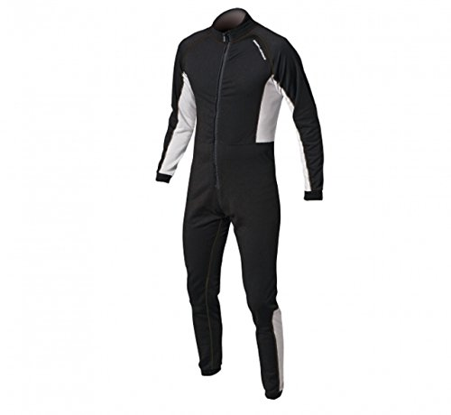 Magic Marine Drysuit Dry Suit Underfleece Black - thermische warme Wärme legere Leichte Flatlocknähten - Unisex