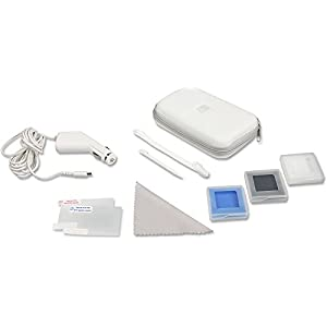 Speedlink Travel-Pack für Nintendo DS Lite (Transporttasche, KFZ-Ladegerät, Displayfolie, Spielehüllen uvm.) weiß