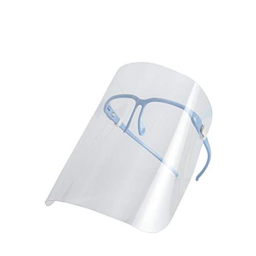 BENPAO Schutzhelm-Maske, Spritzschutz/ölbeständige Gesichtsschutzscheibe, für Küchen-Anti-Fog-Kochfett,Blue