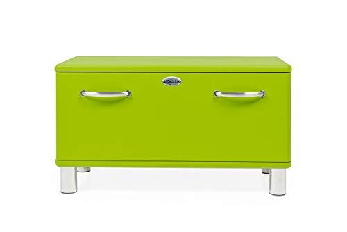 Tenzo 5291-021 Malibu Designer Garderobenbank Holz, grün, 41 x 86 x 47 cm - Garderobe Mit Storage-sitzbank