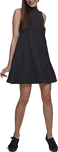 Urban Classics Damen Ladies A-Line Turtleneck Dress Kleid, Black, L -