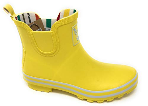 Evercreatures Yellow Meadow Booties - Ankle Wellington Boots