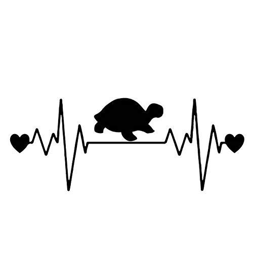 WZJam Wandaufkleber Wandbild Herzschlag Schildkröte Kreative Auto Aufkleber Karosserie Auto Dekor Vinyl Aufkleber @ A (Schildkröte Aufkleber Auto)