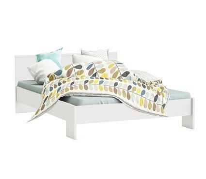 Jugendbett 140*200 cm weiß Kinderbett Jugendliege Bettliege Bett Bettgestell Holz Gästebett Studenten Jugendzimmer Kinderzimmer Schlafzimmer