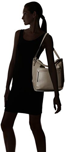 Ecco - Ecco Sculptured Hobo Bag, Borse a spalla Donna Grigio (Moon Rock)