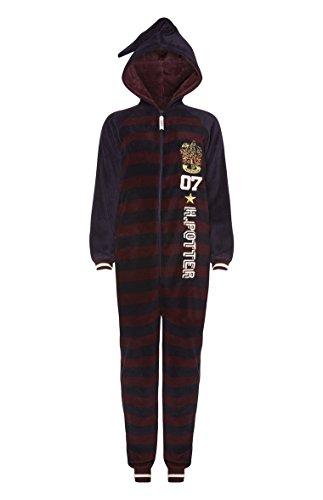 Love to Lounge Ladies Girls Harry Potter Onesie Sleepsuit Nightwear Fancy Dress Novelty All In One Wizard Hood