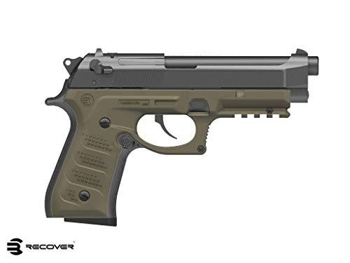 Recover BC2 Beretta Grip e Rail System per Beretta 92Fs, 98, M9, guancette e Slitta Picatinny (Tan)