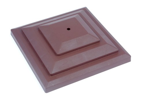 10-x-linic-plastic-fence-post-caps-brown-3-rot-proof-gt0044-uk-made-free-uk-postage