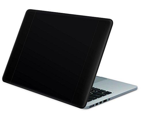 """Skins4u Laptop Aufkleber Universal Skin Netbook Sticker für bis zu 15,6"""" Displays in 38,1x26,7cm - Solid State Black"""
