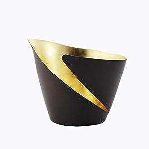 Teelichthalter Break bronze/gold   Teelichtschale   Windlicht Deko aus Metall   Strahlender Teelichthalter   Gartendeko