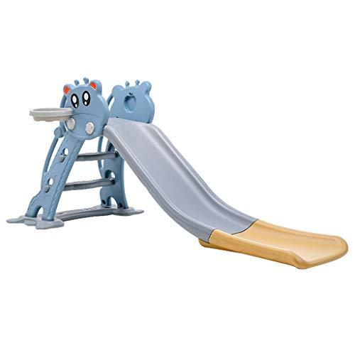 Kinderrutsche Haushaltsrutsche Multifunktionale Kombinationsrutsche Kleiner Spielplatz Kletterspielzeug Kunststoff Gartenrutsche, Verdickung ( Color : Blue , Size : 158*75*81cm )