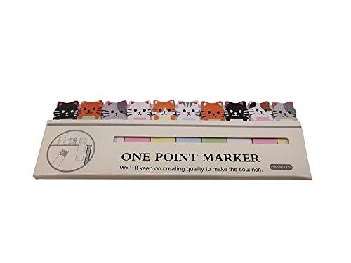 Vektenxi Convenience Cartoon Sticker Lesezeichen Notizzettel Notizblöcke Tab Haftnotizen Marker Schreibwaren Katzen Langlebig und praktisch
