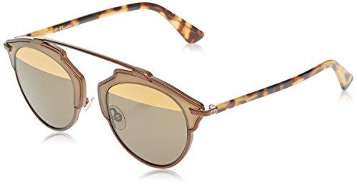 Dior diorsoreal eb occhiali da sole, nero (mtbronze), 48 donna