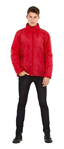 B&C Collecton - Blouson - Homme Red/ Warm Grey Lining