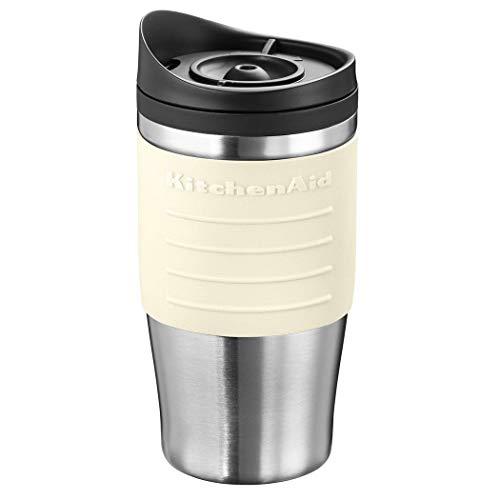Kitchenaid Thermobecher Creme - 5KCM0402TMAC apropiado para: KitchenAid-Persönliche-cafetera eléctrica 5KCM0402.Fassungsvermögen: 540 ml. Material: gebürsteter Edelstahl.Besondere Merkmale: Soft Griff