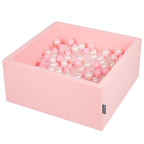 KiddyMoon 5902687412235 - Pelota de Juego, Color Rosa y Transparente