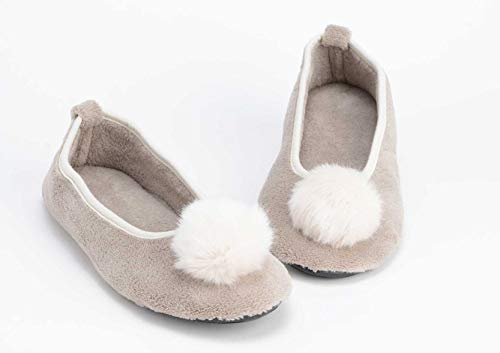 Chaussons ballerines Taupe, pointure 39/40, Amadeus