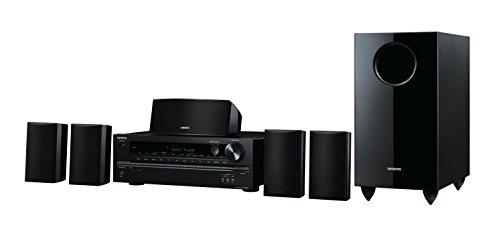 Onkyo HT-S3800-Kanal-Heimkino-Receiver-System mit Lautsprechern (100 W/Kanal, Bluetooth, USB, HDMI, UKW/MW-Tuner, Dolby True HD) Schwarz