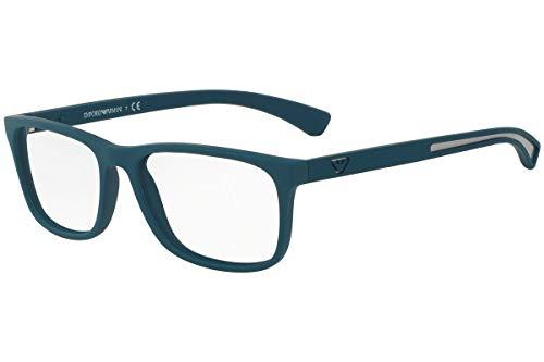 Emporio Armani Männer EA3092 Brillen 56-17-140 5538 EA 3092 Matt Grün groß