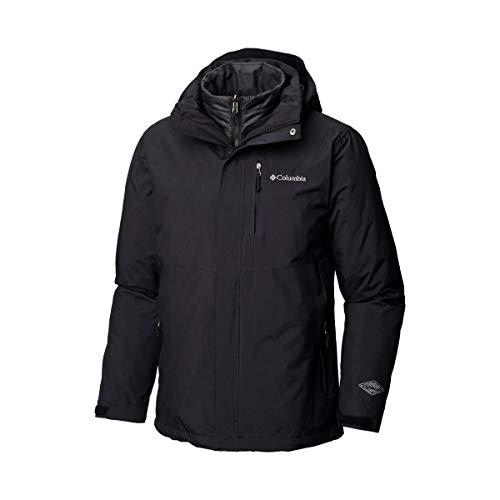 Columbia giacca da uomo intercambiabile 3 in 1, waterproof, element blocker ii, nero (black), taglia : xl