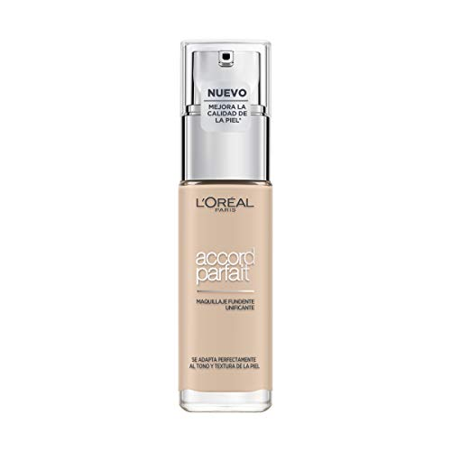 L'Oréal Paris Make-up designer Accord Parfait, Base Maquillaje Acabado Natural, Tono Claro...