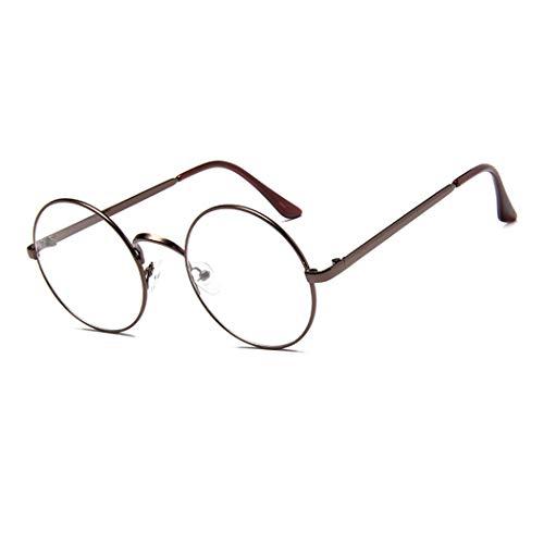 GUKOO Retro Rund metallgestell Unisex Brille Dekogläser Klassisches brillengestelle durchsichtige...