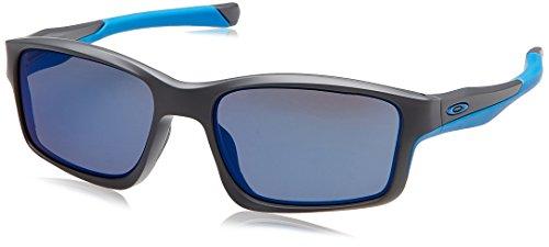 Oakley Chainlink Sonnenbrille, Mehrfarbig (Gestell: Dark Grey; Gläser: Ice Iridium 9247-05), Large (Herstellergröße: 57)