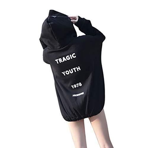 Sonnena Kapuzenjacke Damen Schwarz Steampunk Gothic Punk Vintage Hoodie Reißverschluss Kapuzenpullover Strickjacke für Party Cosplay Halloween Karneval kostüm Faschingskostüme Jacke Mantel (Stellen Sie Gothic Mädchen Kostüm)