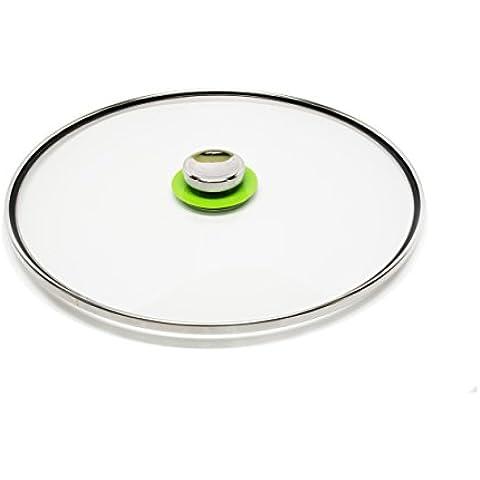 """Quicklidsâ®-Coperchio universale in vetro Large: 12.5"""" verde"""