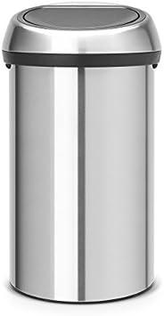 Brabantia 484506 Touch Bin, 60 L - Matt Steel Fingerprint Proof