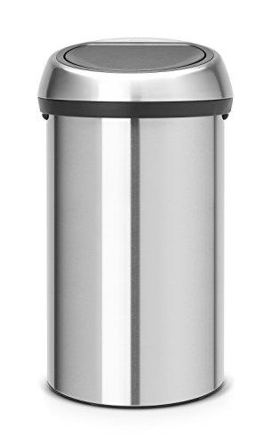 Brabantia 484506 Poubelle Touch Bin, 60 L - Inox Mat anti-trace de doigt