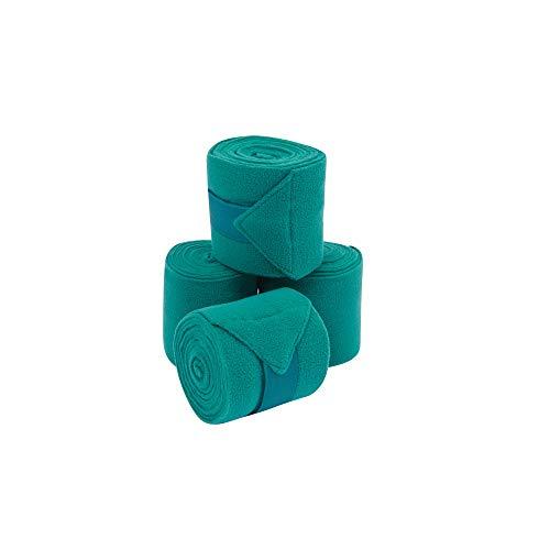 Saxon Coordinate Fleece-Bandagen, Packung mit 4 Stück (Einheitsgröße) (Petrol) -