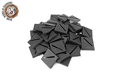 War World Gaming - Socles carrés en Plastique 25mm avec Fente (Quantité à Choisir) - Wargames Historiques, Wargaming, Base, Décor, Figurines, Miniatures, RPG