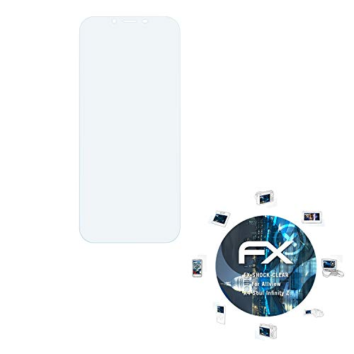 atFolix Schutzfolie kompatibel mit Allview X4 Soul Infinity Z Panzerfolie, ultraklare & stoßdämpfende FX Folie (3X)