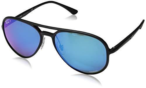 Ray-Ban Unisex-Erwachsene 0RB4320CH Sonnenbrille, Mehrfarbig (Matte Black), 57