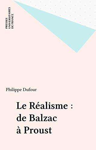 Livre gratuits en ligne Le Réalisme : de Balzac à Proust epub pdf