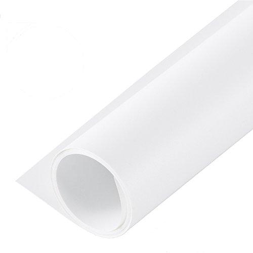 Selens PVC Telón de Fondo 120 * 200cm Background Backdrop Liso + Mate para Fotografía Fotos Estudio - Blanco