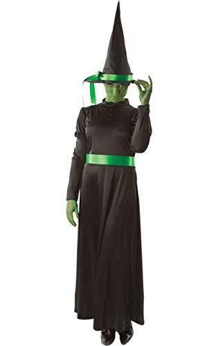 Grüne Damen Böse Hexe Halloween Anzug Verkleidung Karneval Kostüm Small