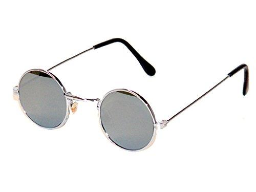 Tedd Haze 60's John Lennon Brille verspiegelt mit Brillen Beutel
