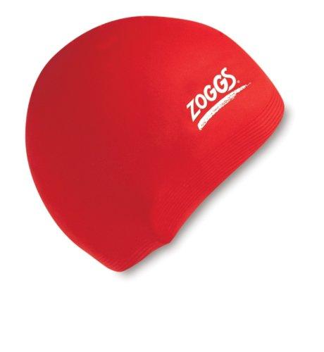 Zoggs 300774 silicone cap, unisex adulto, rosso, taglia unica