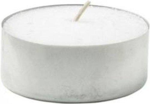 Hillfield 48 Maxi Teelichter Weiss Brenndauer 10 Stunden Paraffin Jumbo Teelichte