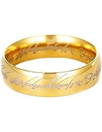 58eef55d8a31 OBSEDE Hobbit One Ring Señor de los Anillos Black Bandas Hippie de Acero  Inoxidable para Hombres